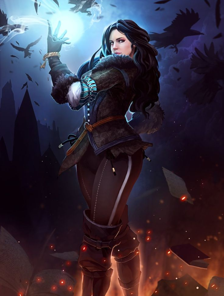 Yennefer of Vengerberg by  _understroke. Witcher fan-art. ArtStation