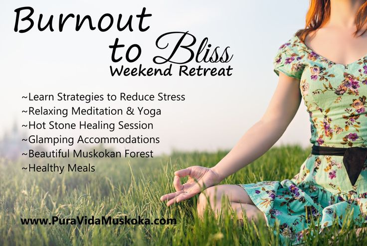 Stress Reduction Retreat at Pura Vida Soul Institute Inc.  www.PuraVidaMuskoka.com