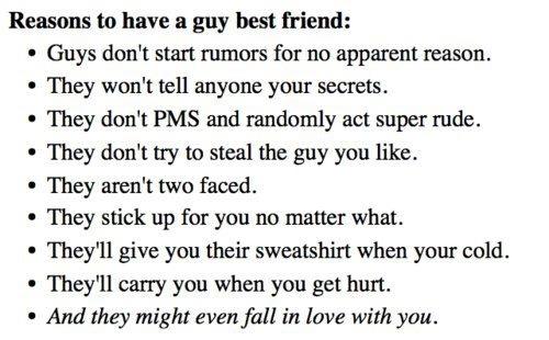 Girlfriends best friend is a guy