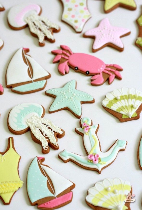 Ocean Decorated Cookies ~ Sweetopia // @sweetopia