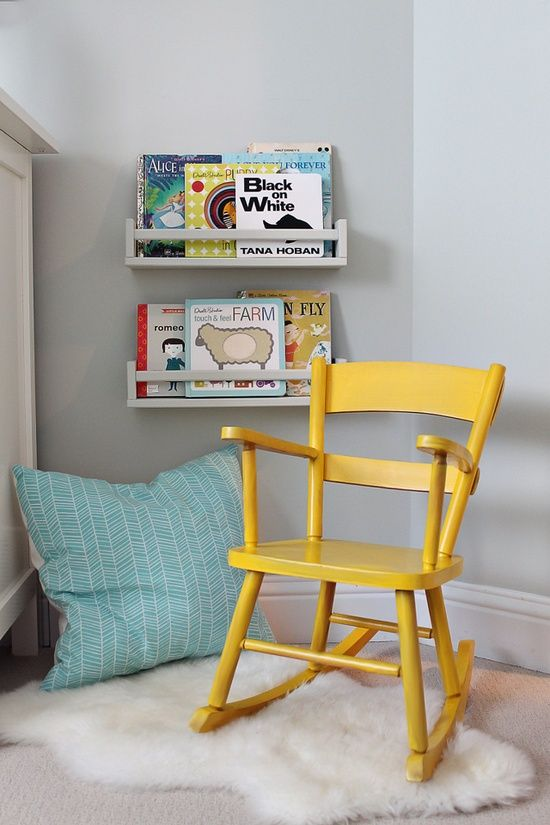 Encourage independent reading from a young age with a warm, inviting nook dedicated to storybooks.