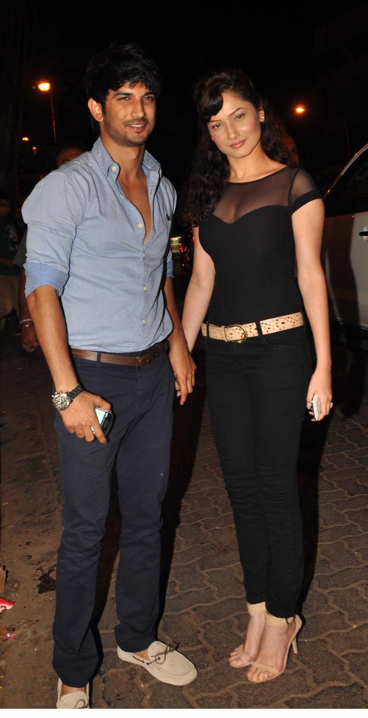 The latest 'sweetheart' of #Bollywood - Sushant Singh Rajput, with girlfriend Ankita Lokhande. #celebritycouple #couple #bollywoodcouple #relationship #girlfriend #affairs