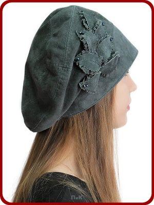 Берет Катарина - Женские шапки - Из кожи и замши