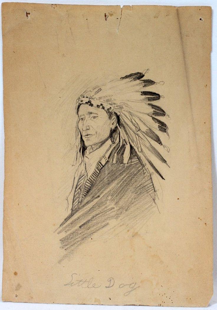 021042 joseph scheuerle pencil drawing 10 x 7 on