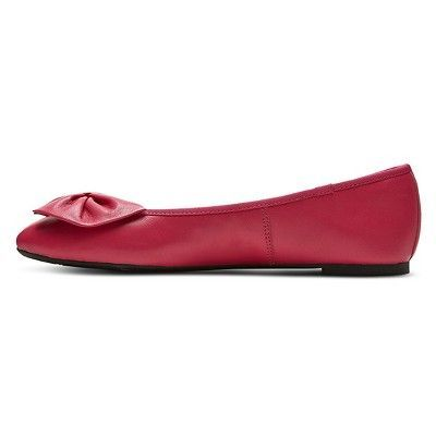 Women's Sam & Libby Chelsea Genuine Leather Bow Flats - Pink 5.5, Candy Pink