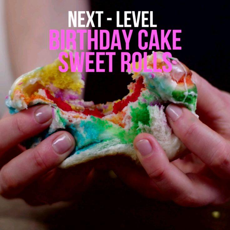 Next-Level: Birthday Cake Sweet Rolls