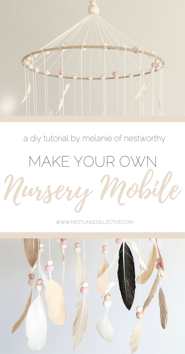 Make your very own DIY nursery mobile - Melanie of Nestworthy shows us how to create the perfect handmade feature for your baby's nursery! DIY Nursery Decor | DIY Home Decor | DIY Baby Mobile