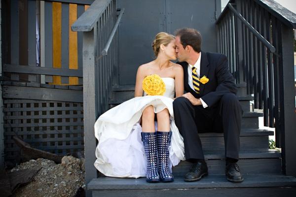 Weddings & Wellies #boots #wedding #wellies