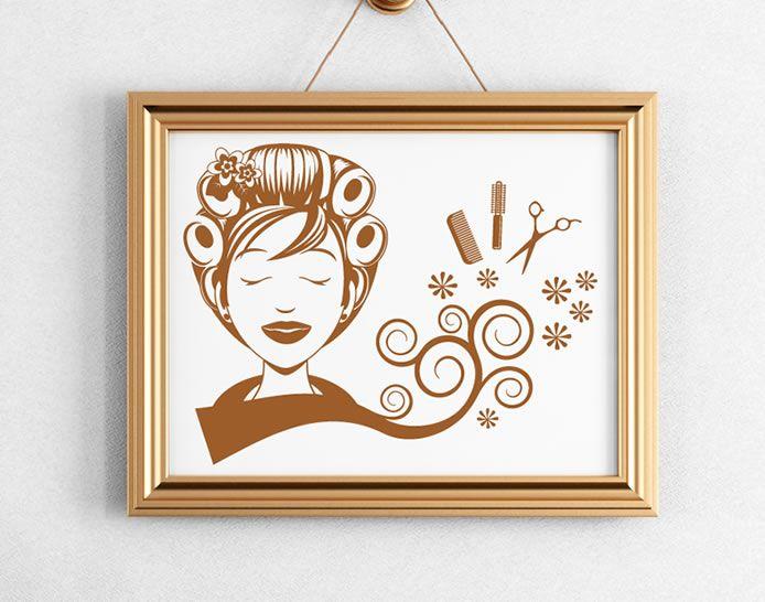 33 best images about vinilos para decorar peluquer as on for Decoracion en peluquerias