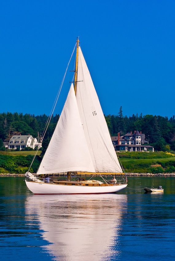 Sailboat, Castine Harbor ~ Penobscot Bay, Maine