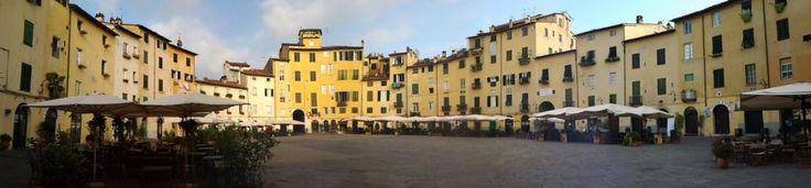 Lucca, Piazza Anfiteatro. Isn't it amazing? :)