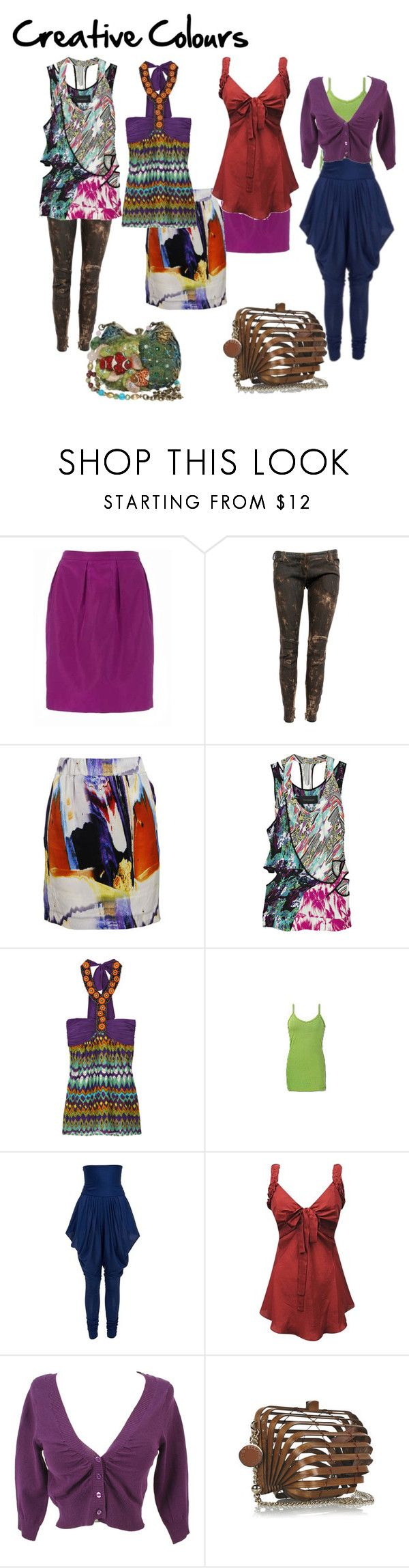 """""""Creative Colours"""" by imogenl ❤ liked on Polyvore featuring Balmain, Cathy Pill, Thakoon, Single, BKE, Alexander McQueen, YOANA BARASCHI, STELLA McCARTNEY, Finders Keepers and colour guide"""