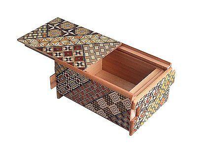 Traditional-Japanese-Hakone-Yosegi-Wooden-Secret-Puzzle-Trick-Box-12-Steps