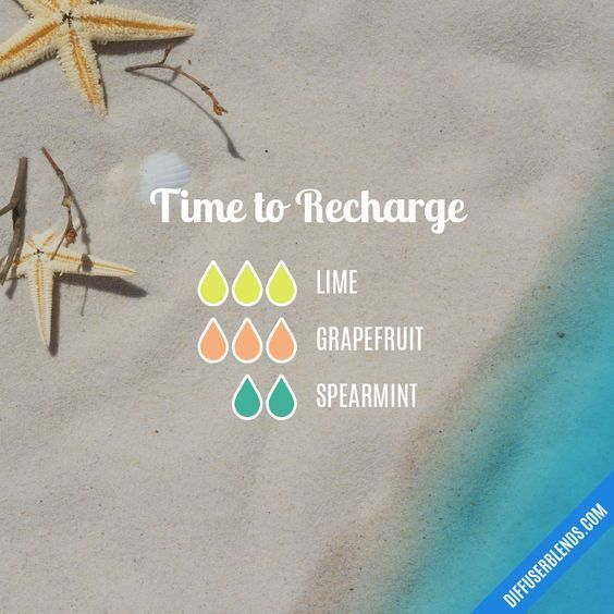 Time to Recharge - Essential Oil Diffuser Blend #essentialoilblends