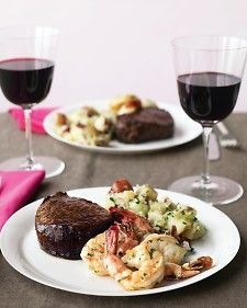 This classic surf and turf is easy to make at home. Spooning hot butter over the beef is a steakhouse trick that helps it cook evenly and enhances its flavor.