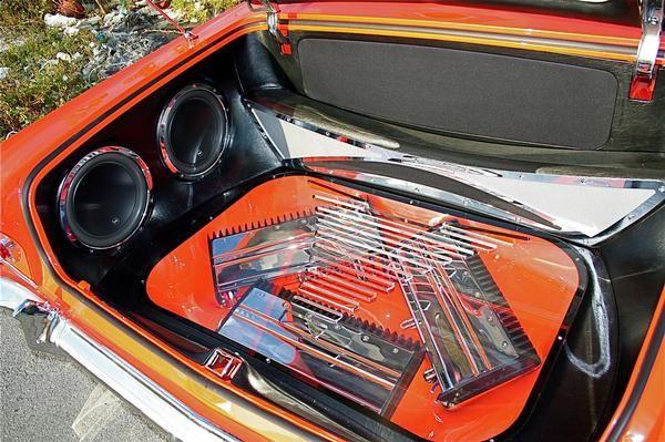 1963 Impala Car Stereo Trunk Install Fiberglass Work