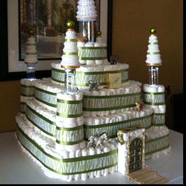 Diaper Castle I Made For My Nieces Disney Safari Themed