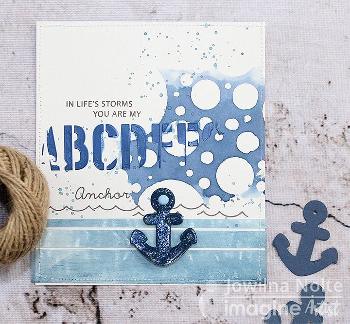 In Life's Storms Handmade Card by Kyriakos Pachadiroglou There is always someone to rely on who is like an anchor in the sea! For today's crafting reflection, I choose to make a handmad…