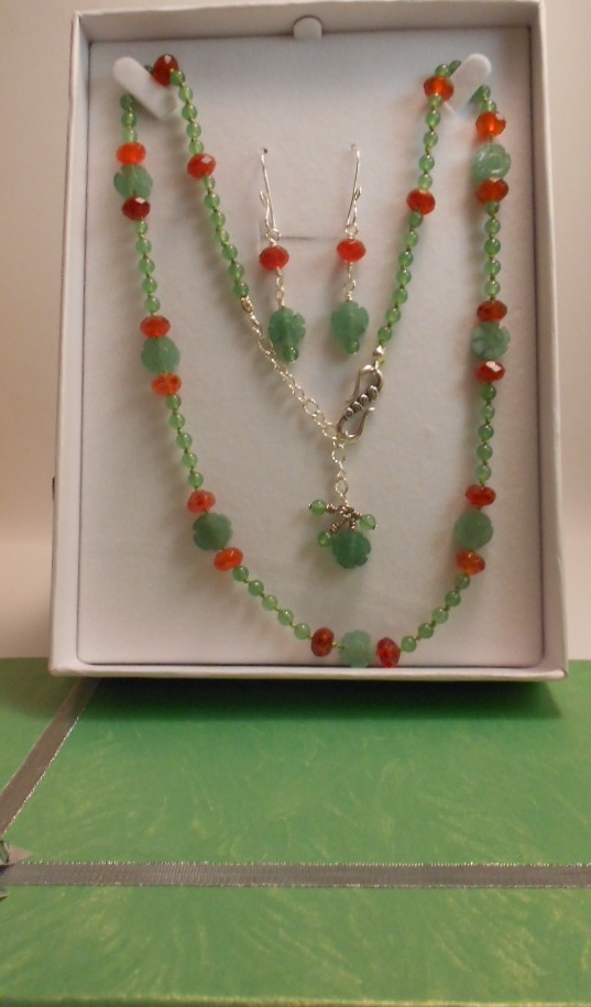 Set Aventurine and Fire Agate