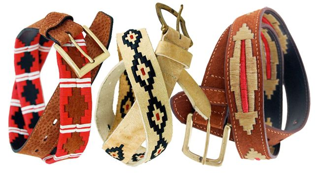 Argentinian polo belts made from the hides of capybara, which can only be found on the pampas of Brazil and Argentina.