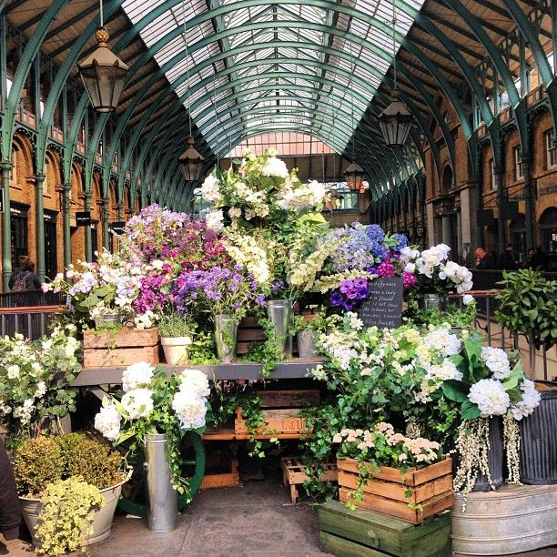 Buying Flowers at New Covent Garden Flower Market at Nine ...