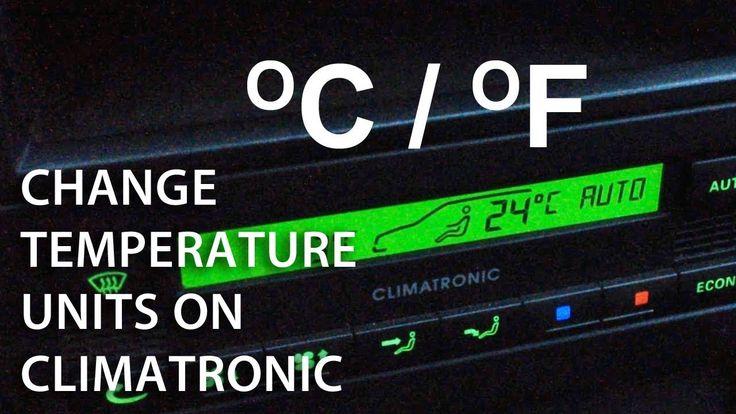 How to change temperature between celsius / fahrenheit in #Climatronic (#Skoda Octavia Superb #Passat) #cars