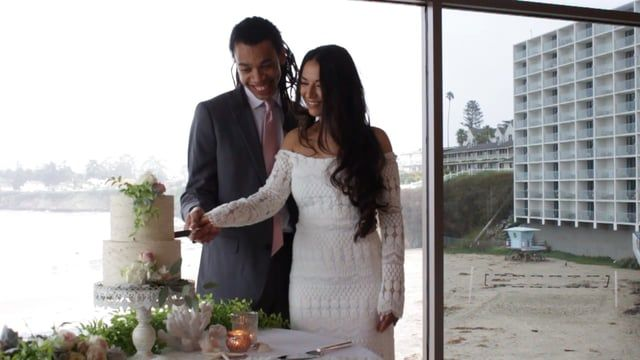 Dream Inn - Styled Wedding Shoot on  Cloudy Day - Santa Cruz, CA by Iris & Lily Wedding Video iris-and-lily.com  Blog and behind the scenes post about the shoot by Cassandra McClure - http://www.cassandramcclure.com/single-post/2017/02/06/Santa-Cruz-Valentine-Bridal-Shoot  Venue: Dream Inn Santa Cruz @dreaminn_santacruz Bride: Camellia Stearns @grounding_force Groom: Nile roc Terry @nileroc Rentals, Decor & Design: Laura Davis View Point Events @viewpoimt_events Florist: Marysu Erickson…