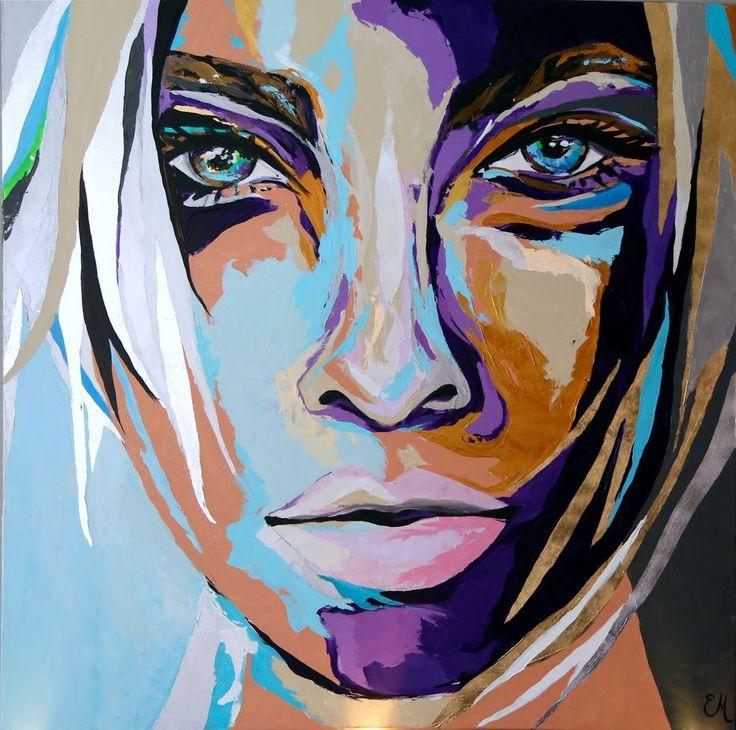 """Shadow"" 160x160 cm via Emma Malm Art. Click on the image to see more!"