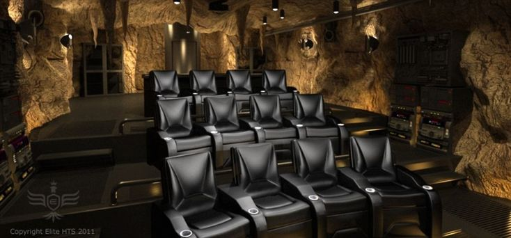 Dark nights: The cinema can seat 12 people in the home in Greenwich, Connecticut