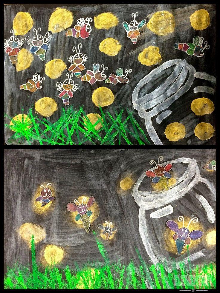 Exploring Art: Elementary Art: 2nd Grade Firefly Paintings