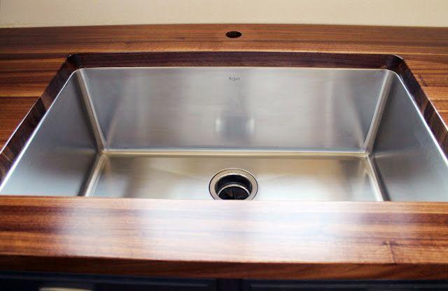 Butcher block w/ undermount sink Kitchen Pinterest