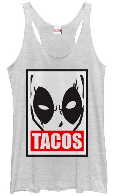 """DeadPool Head With Tacos"" Material: 50% Polyester 25% Cotton 25% Rayon Size Width Small 18 Medium 20 Large 22 XL 24"