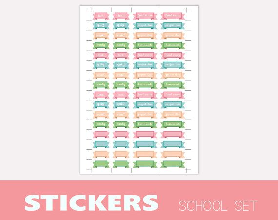 Cute school themed STICKERS for decorating di TheLittlePlannerShop