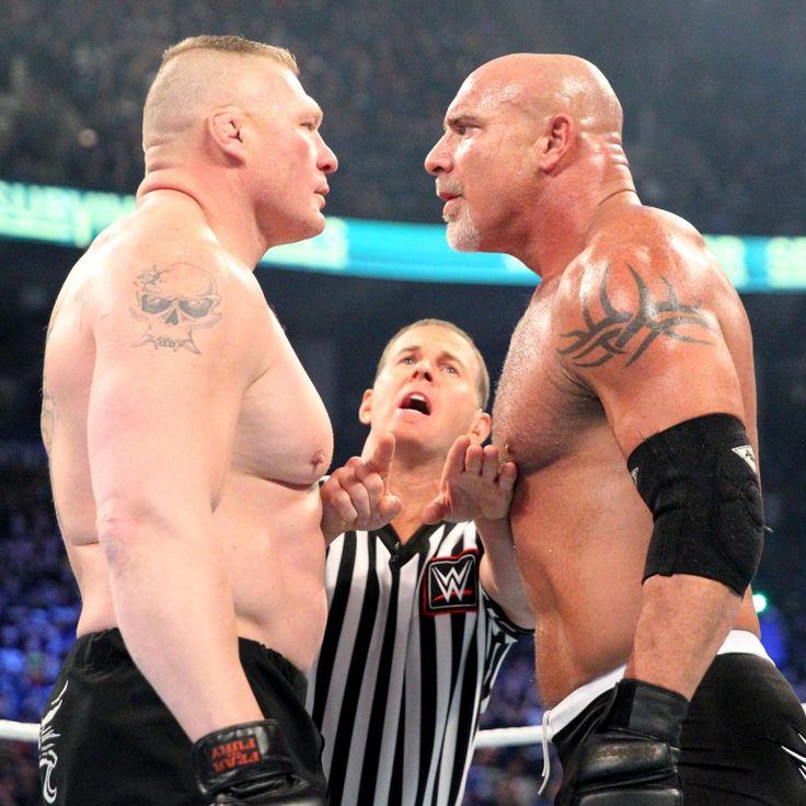 Goldberg vs. Brock Lesnar: photos