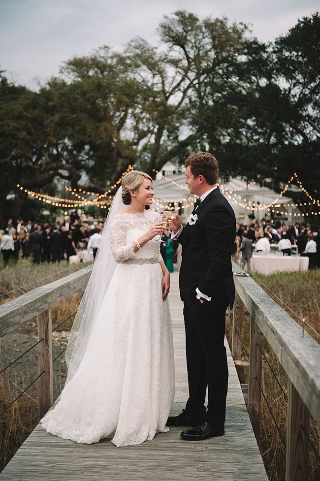 Anna & Woody's destination wedding at the historic Lowndes Grove Plantation | Charleston, SC | Real wedding featured on The Wedding Row | Winter Wedding Inspiration | Photo by Jennings King Photography