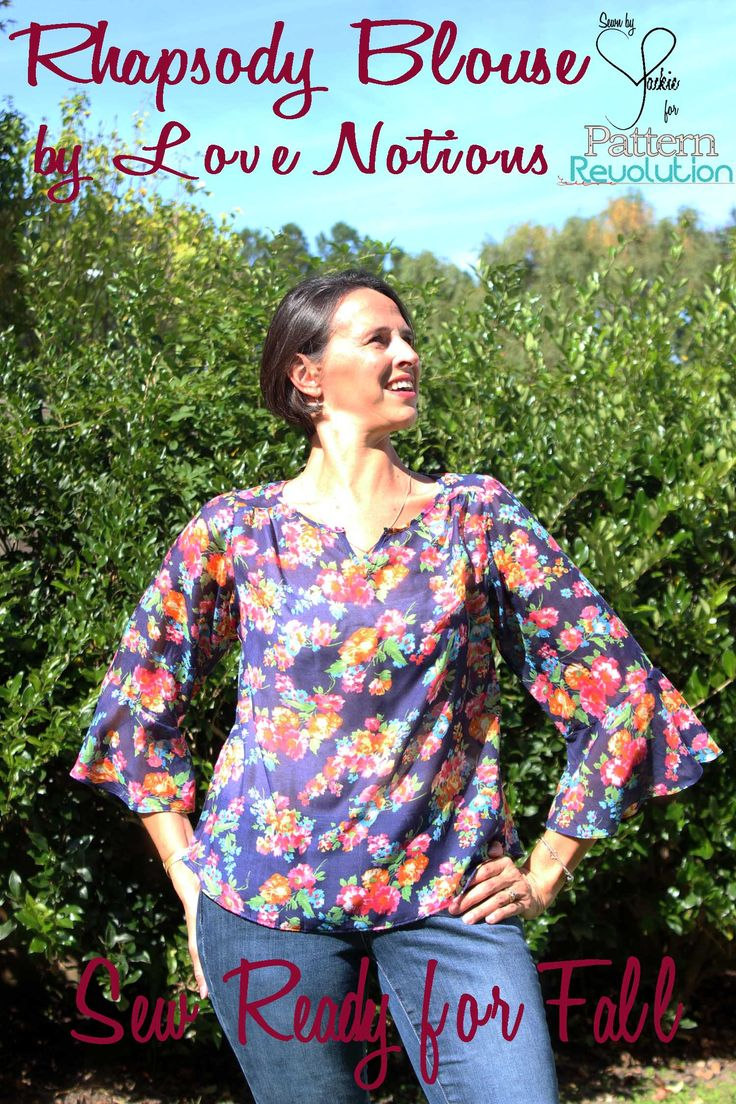 Sew Ready for Fall: Rhapsody Blouse by Love Notions and Eeny Meeny Miny Moe and Junior Joggers by Peek-A-Boo Patterns