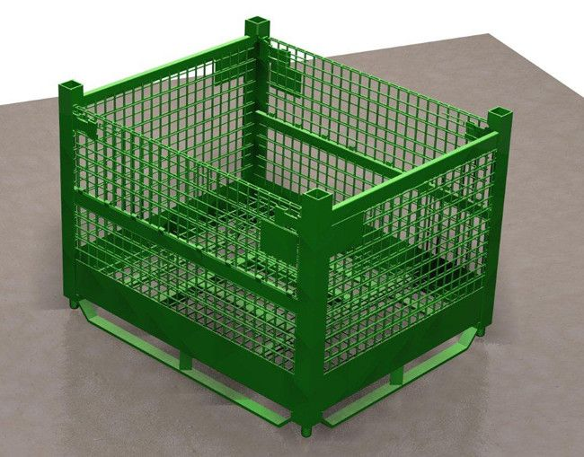 ITEM # 162 – HEAVY DUTY WIRE MESH HANDLING BIN WITH DROP GATES. SKU: R2GW-01. Category: New Bins / Baskets.  Wire mesh heavy duty basket GM #5131 style, Ford ZE-13 style and all other custom sizes and styles to suit your requirements.