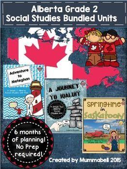 Grade 2 Alberta Social Studies Inquiry Bundle Units