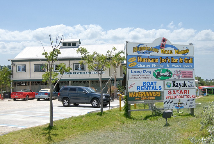 Hurricane Hole Marina - A real Florida Keys Experience. Check out all there is to do in this one stop. Just as you arrive to Key West, on the left is Hurricane Hole Marina. Water sports galore, charter boat fishing,retail shops,& local seafood restaurant serving fresh catch from the dock.