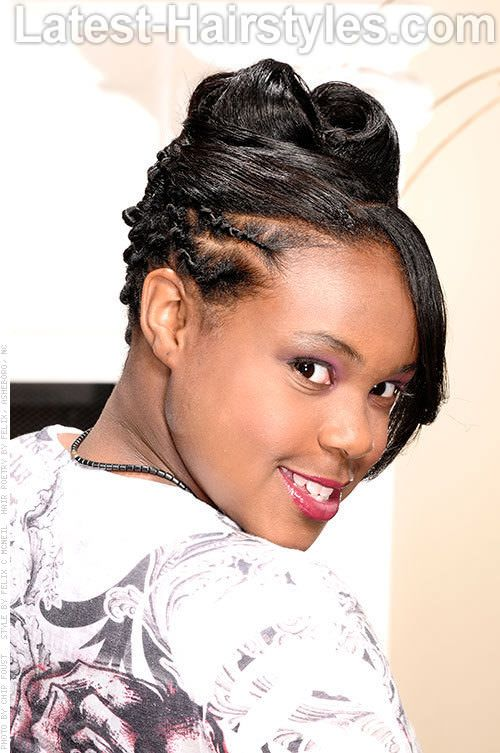 Black Updo Hairstyles With Twists And Humps Google