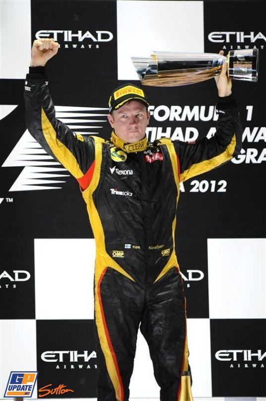 Kimi Räikkönen, Lotus Renault, 2012 Abu Dhabi Formula 1 Grand Prix, Formula 1