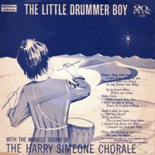 """""""The Little Drummer Boy"""" (originally known as """"Carol of the Drum"""") is a popular Christmas song written by the American classical music composer and teacher Katherine Kennicott Davis in 1941.[1] It was recorded in 1955 by the Trapp Family Singers and further popularized by a 1958 recording by the Harry Simeone Chorale."""