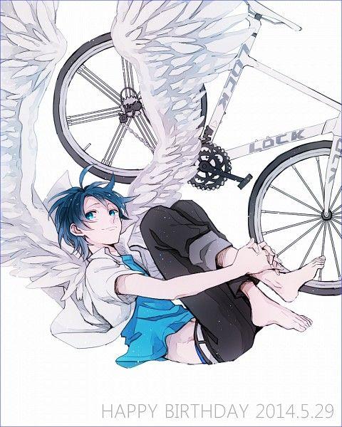 Tags: Anime, Bicycle, Feather Wings, Yowamushi Pedal, Sangaku Manami, Hoshiko (Pixiv5322256)