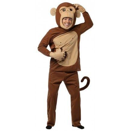 Disfraz de Mono, un original disfraz animal de monito adulto. Conviertete en este simio gracioso y haz el mono un poco subiendote por l...