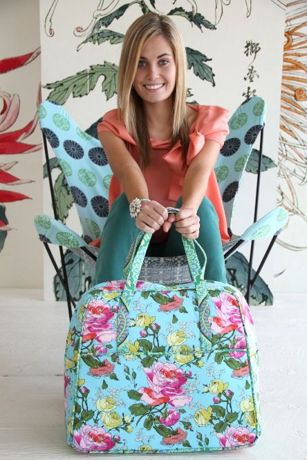 Made it and Love it! Amy Butler's Alchemy Fabrics with The Weekender Travel Bag