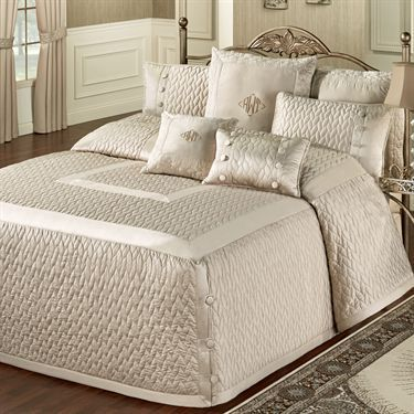Silk Allure Fawn Tailored Oversized Quilted Bedspread Bedding