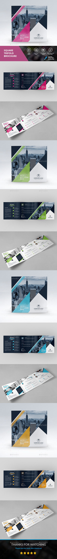SQUARE TRI-FOLD - #Corporate #Brochures Download here: https://graphicriver.net/item/square-trifold/19446763?ref=alena994