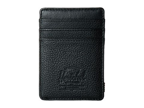 HERSCHEL SUPPLY CO. Raven Leather. #herschelsupplyco. #bags #leather #wallet #accessories #cardholder #cotton #
