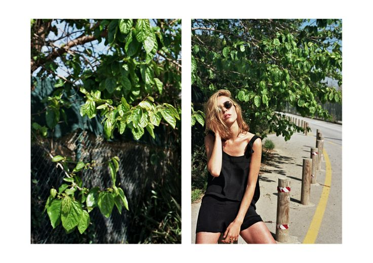 Le fortune SS2014 (Summer Girls) Crista Leonard (Photo) Nur Ia (Blow Models Barcelona) Marianne Krauss (Styling & Production) Veronica Garcia Make UpMake Up  Oriol Gayan (Graphic design) Le Fortune are Francisca Izquierdo & Gaby Pujol Our favorite black jumpsuit