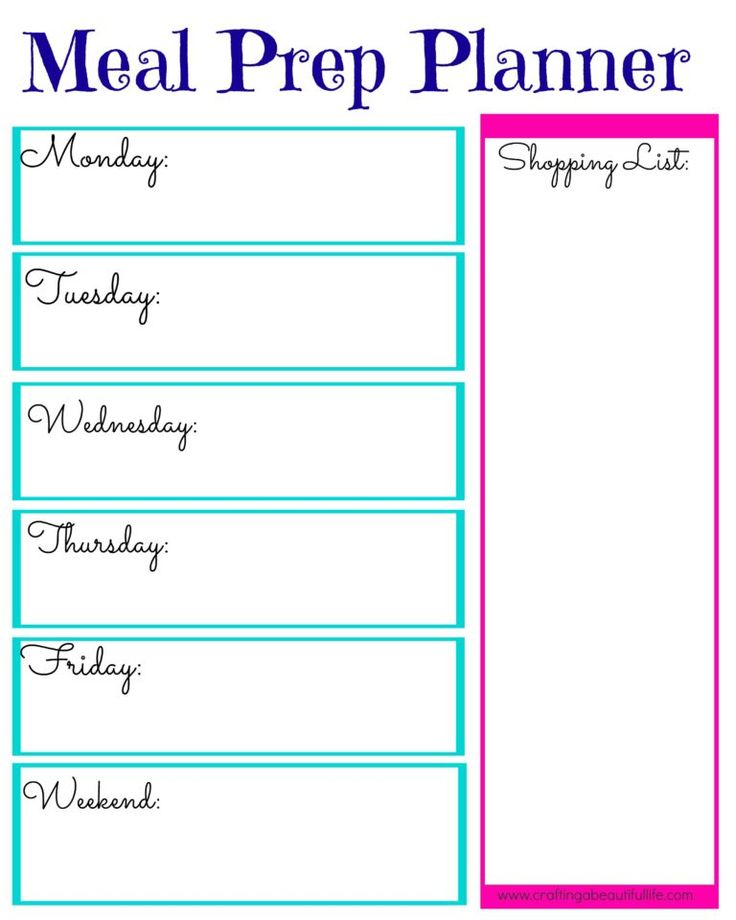 This is an image of Nifty Meal Prep Printable